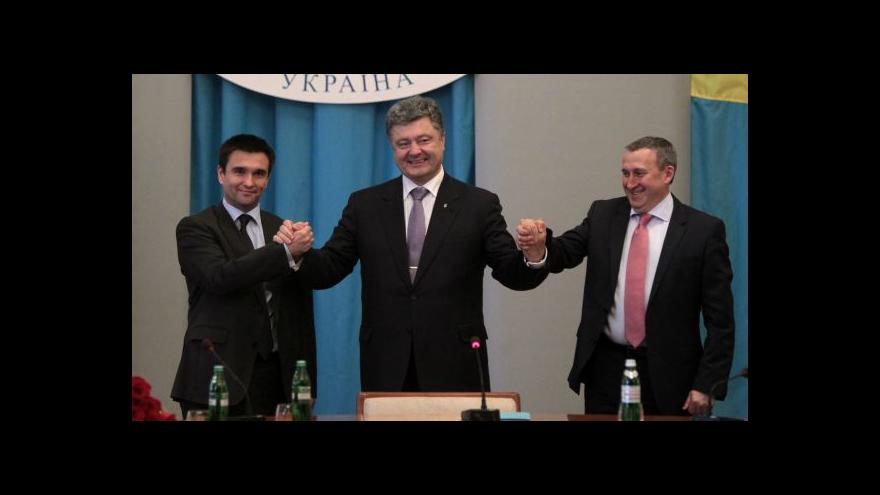 Video Porošenko podepíše ekonomickou část asociační dohody