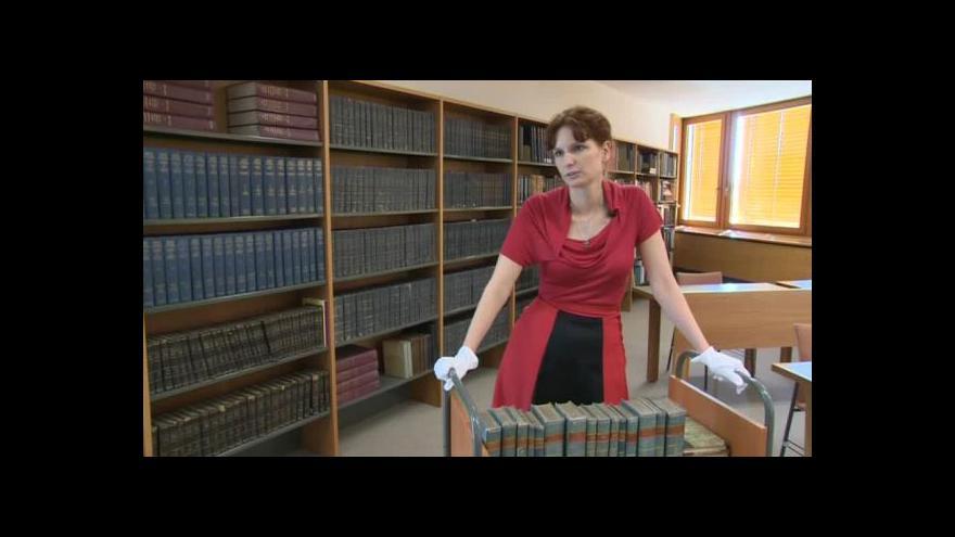 Video O sbírce zednářských knih hovoří Jindra Pavelková
