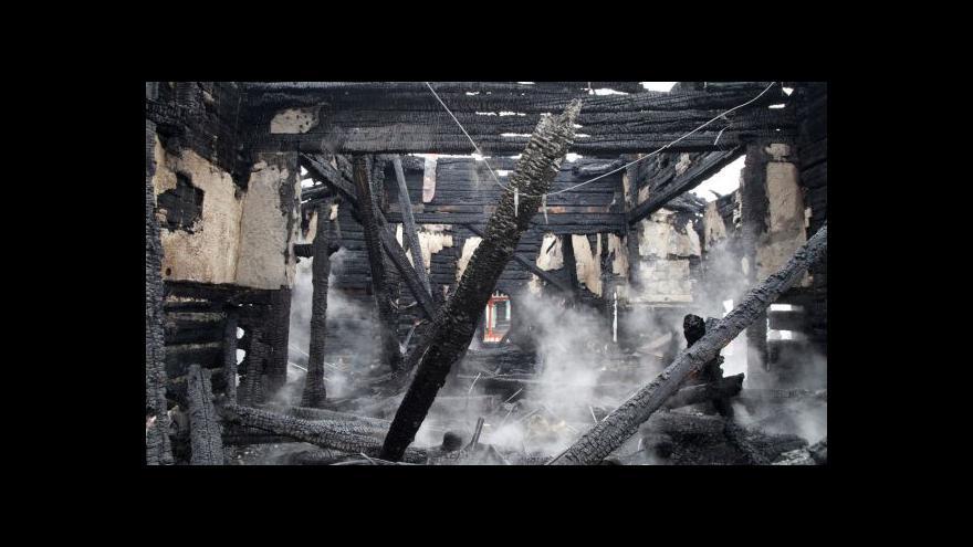 Video Znalecký posudek vyloučil úmyslné zapálení Libušína