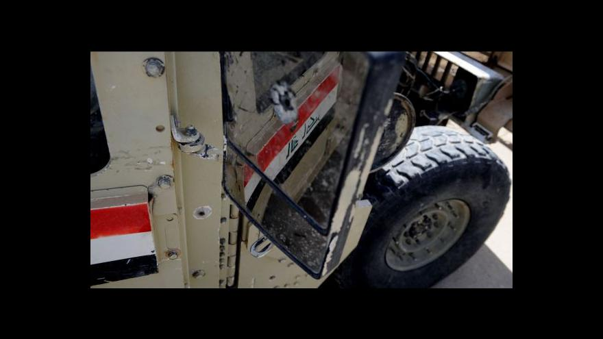 Video ISIL je asi 100 kilometrů od Bagdádu