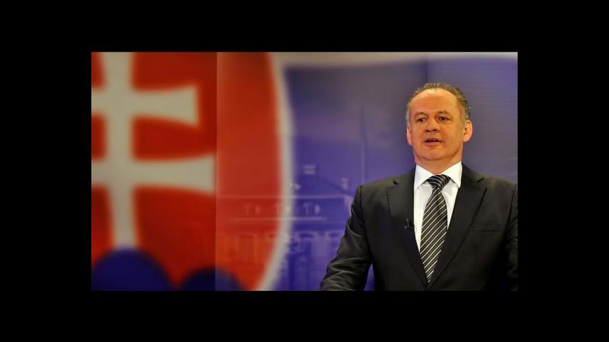 Video Andrej Kiska se ujme úřadu slovenského prezidenta