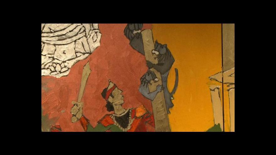 Video Indický Picasso vystavuje v Londýně