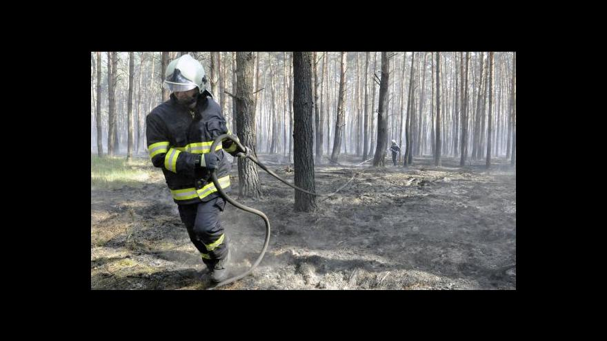 Video BEZ KOMENTÁŘE: U Blanska hořel les