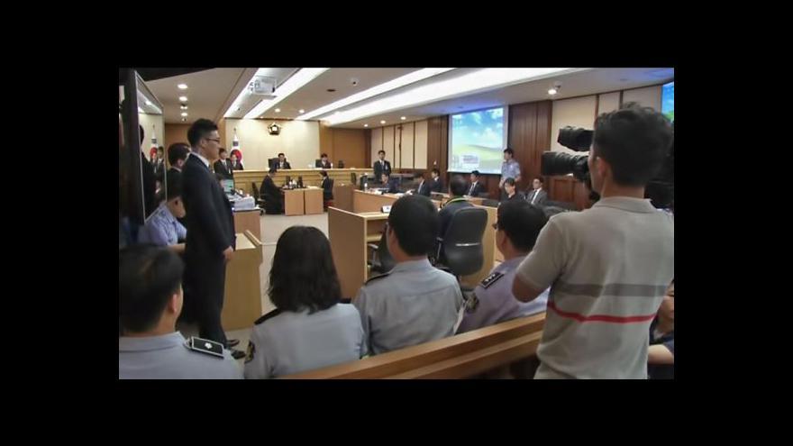 Video Začal proces s posádkou korejského trajektu Sewol