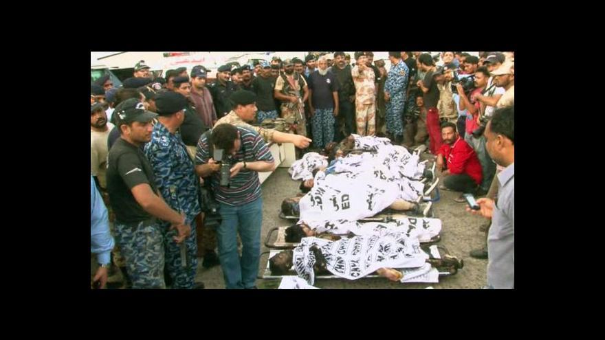 Video Při útoku na letiště v Karáčí zemřelo 28 lidí