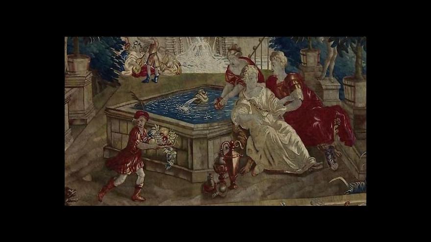 Video Zámek v Kroměříži vystavuje vzácné tapiserie