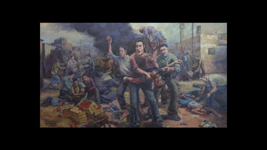 Video Umělci z pásma Gazy nesmějí na svou výstavu