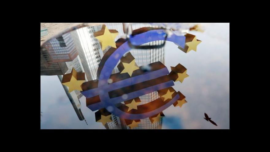 Video Ekonomika ČT24: ECB budou banky za uložení peněz platit