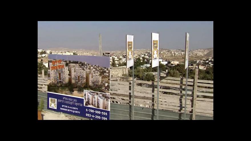 Video Izrael postaví další tisíce bytů pro osadníky