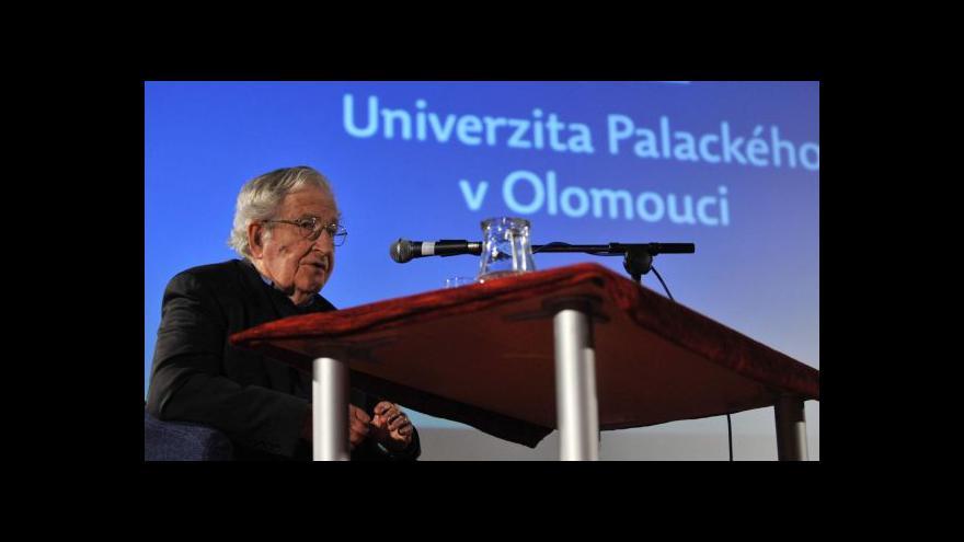 Video Petr Fischer: Chomsky má Ameriku rád