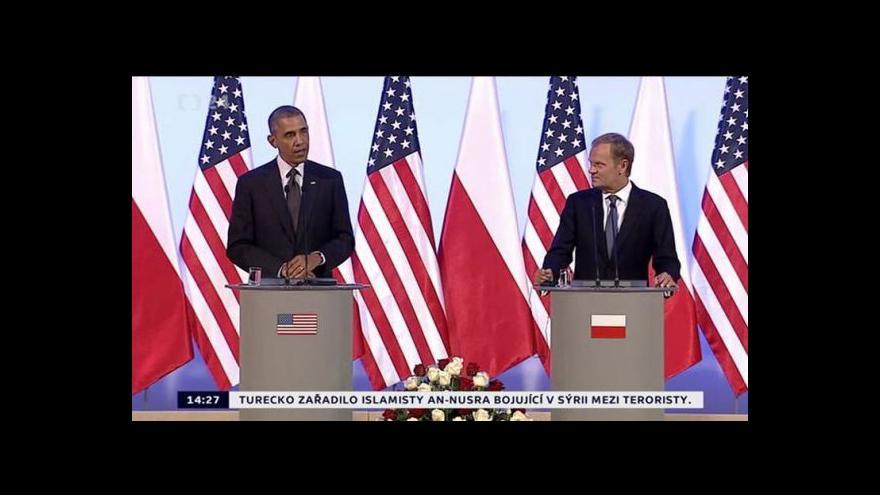 Video Obama pochválil Poláky za roli v ukrajinské krizi