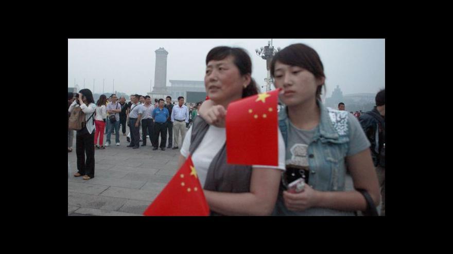 Video Tragédie je pro Čínu dodnes nežádoucím tématem