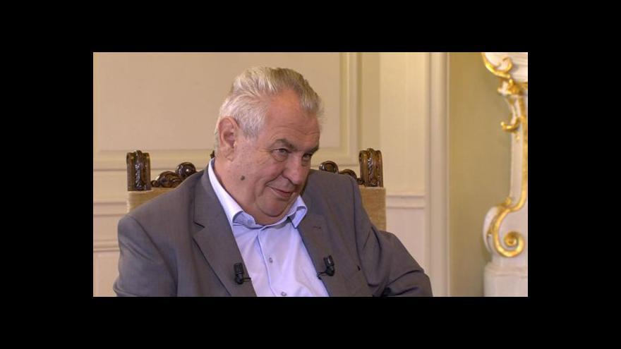 Video Miloš Zeman v Otázkách Václava Moravce: Spory Válkové s Marvanovou