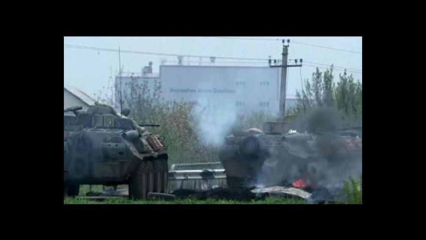 Video Boje na východě Ukrajiny pokračují