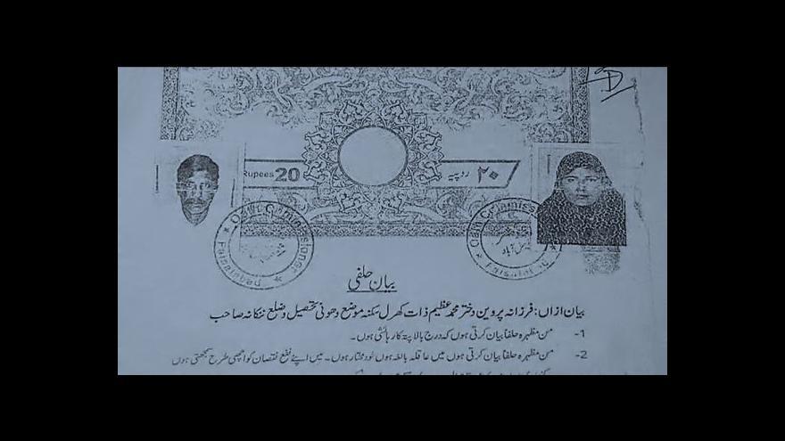 Video Pákistán vyšetřuje případ ukamenování mladé těhotné ženy