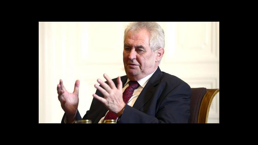 Video Vystoupení prezidenta Zemana a premiéra Sobotky na konferenci o stavebnictví