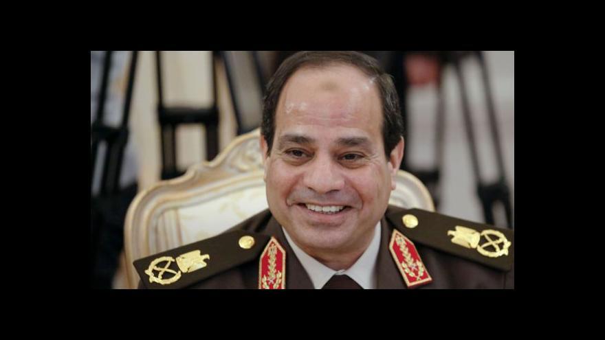 Video Egypt povede dle očekávání bývalý velitel armády Sísí