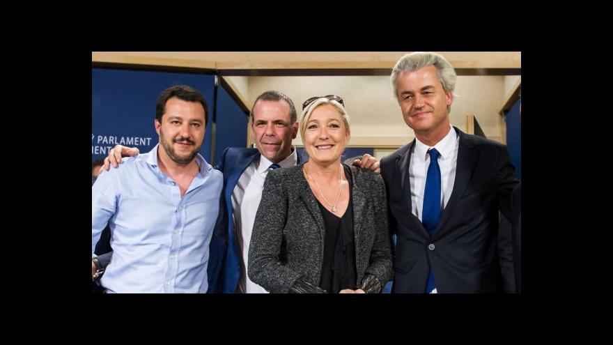 Video Nacionalistické strany chtějí utvořit frakci v Evropském parlamentu