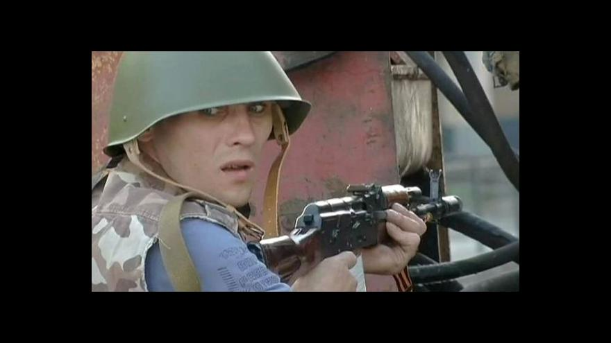 Video Střelba, strach a barikády v Doněcku