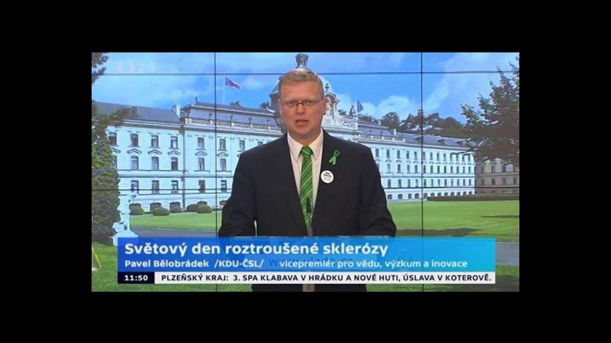 Video Brífink předsedy KDU-ČSL ke Světovému dni roztroušené sklerózy