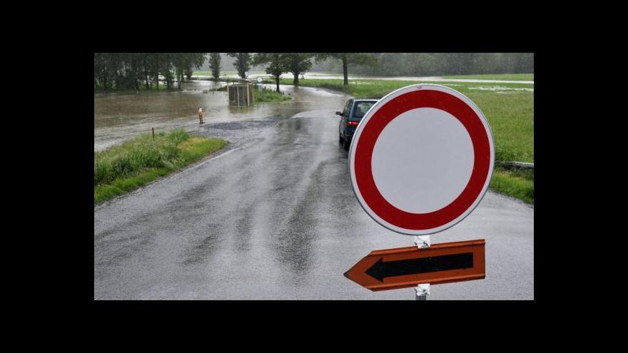 Video Silné srážky postihly také Středočeský kraj