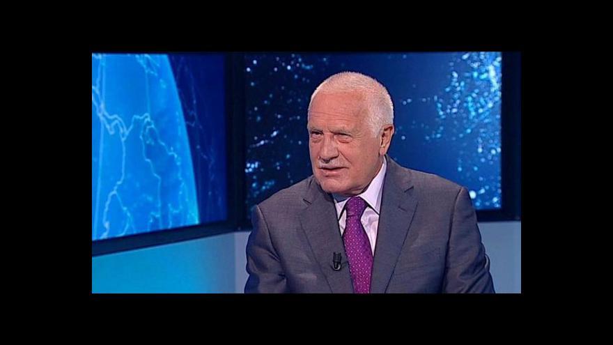 Video Klaus: Eurovolby ukázaly, že pravice v Česku zmizela