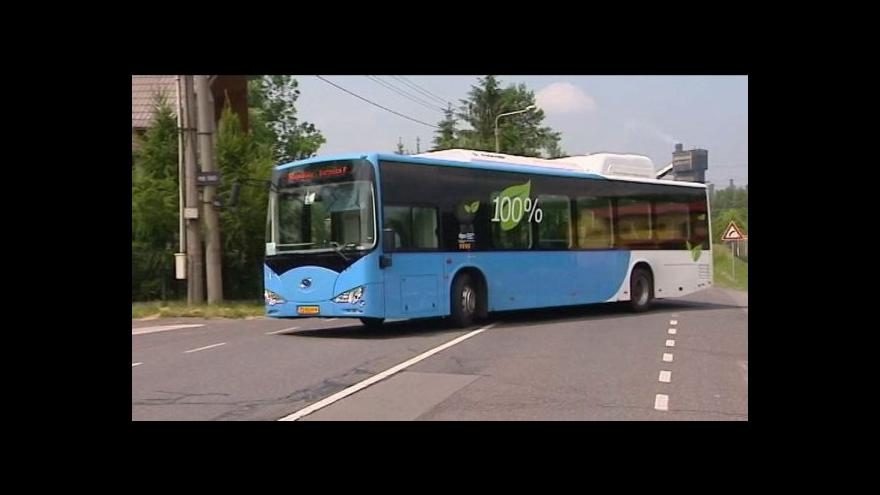 Video Dopravní podnik Ostrava testuje čínský elektrobus