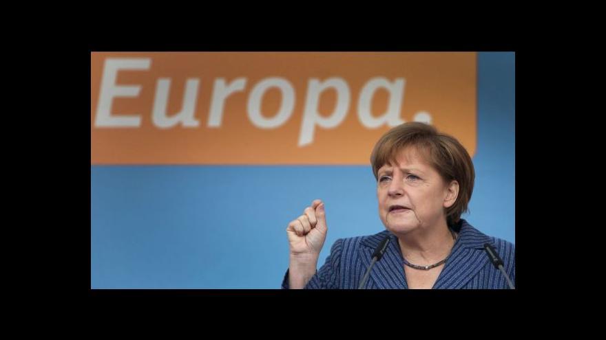 Video Merkelová na TK: Spolupráce s AfD nepřipadá v úvahu