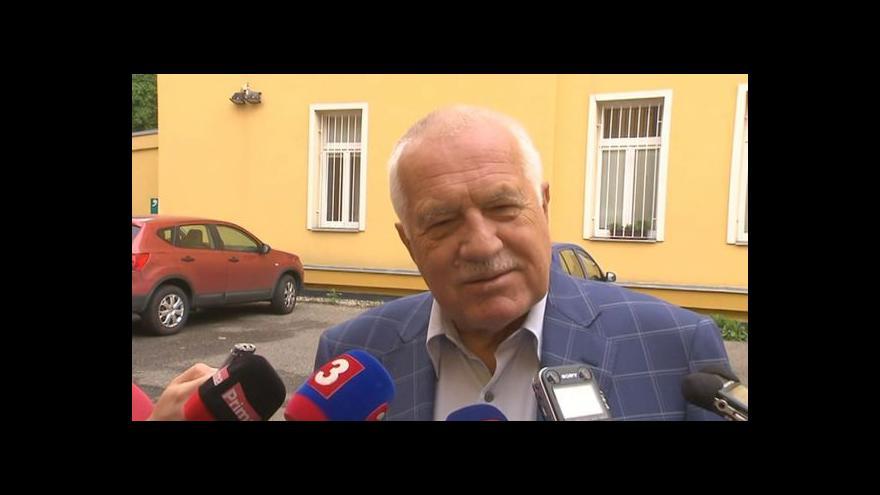 Video Klaus: Poprvé jsem po pádu komunismu váhal, zda mám jít vůbec volit