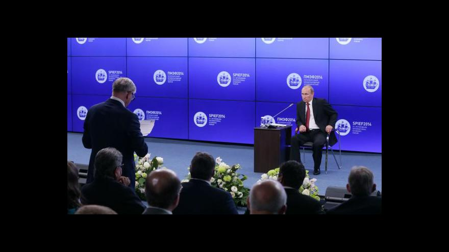 Video Projev Vladimira Putina na konferenci v Petrohradu