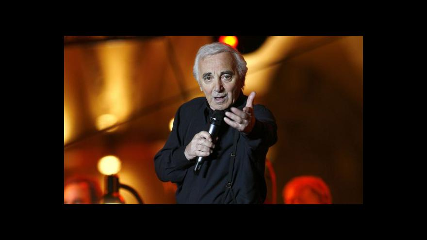 Video Charles Aznavour slaví devadesátiny