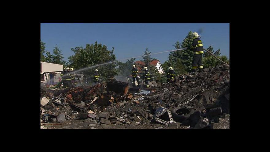 Video Výbuch zcela zničil dům v Cerhenicích