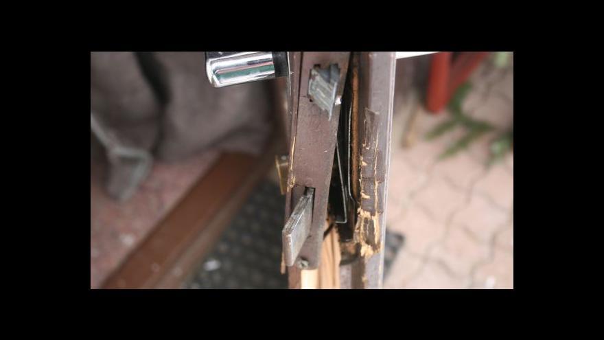 Video Nejčastěji chodí zloději dveřmi