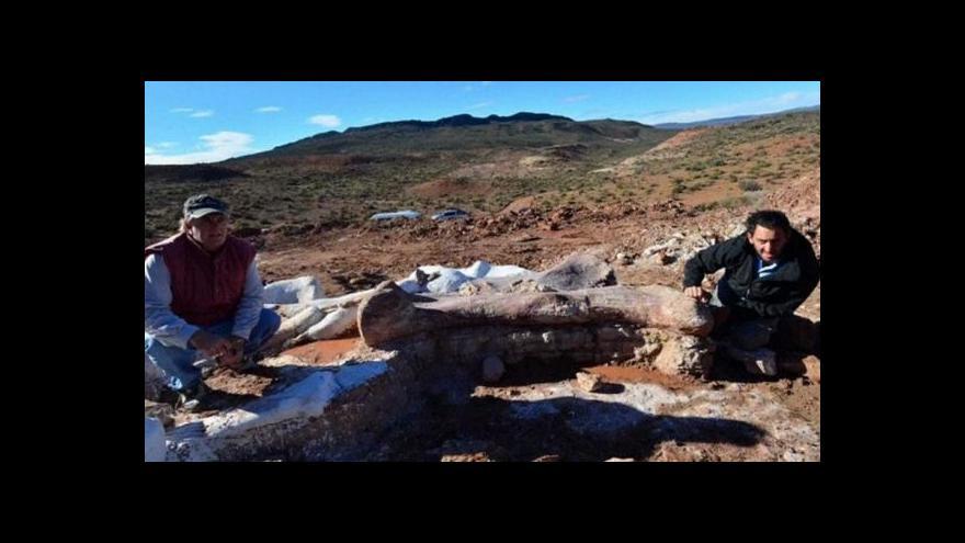 Video V Argentině zřejmě našli největšího dinosaura