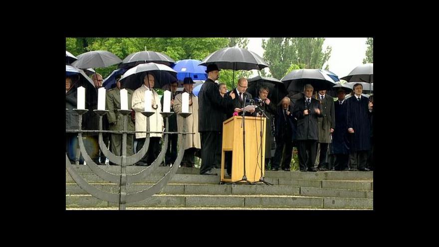Video Terezínská tryzna z Národního hřbitova před Malou pevností