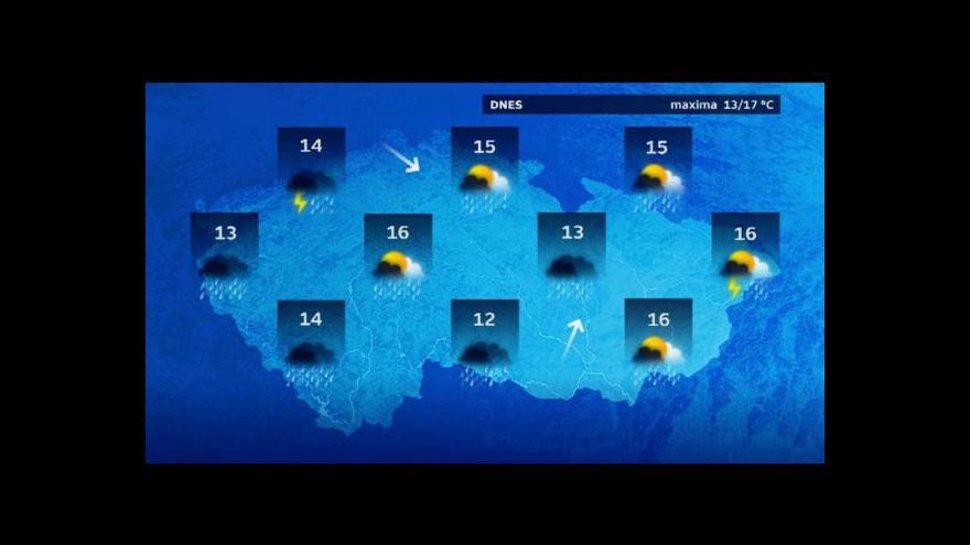 Video Počasí: Srážky by měly ustávat na většině území