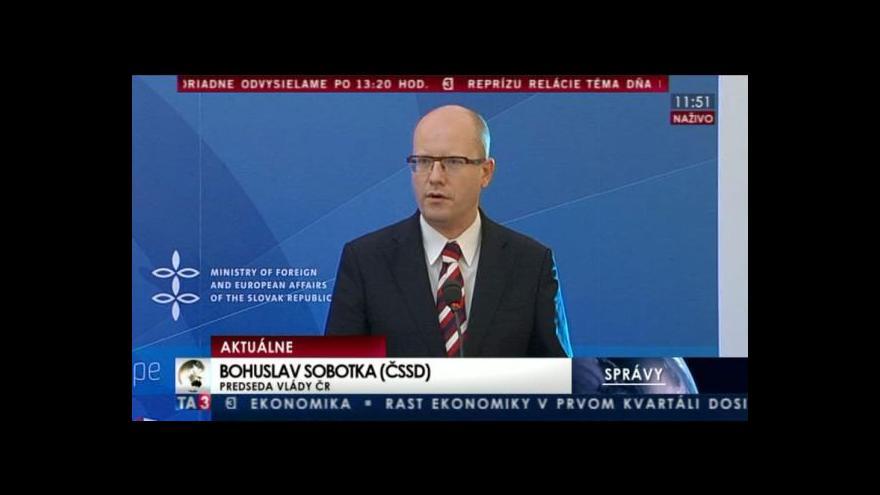 Video TK premiérů zemí Visegrádské čtyřky