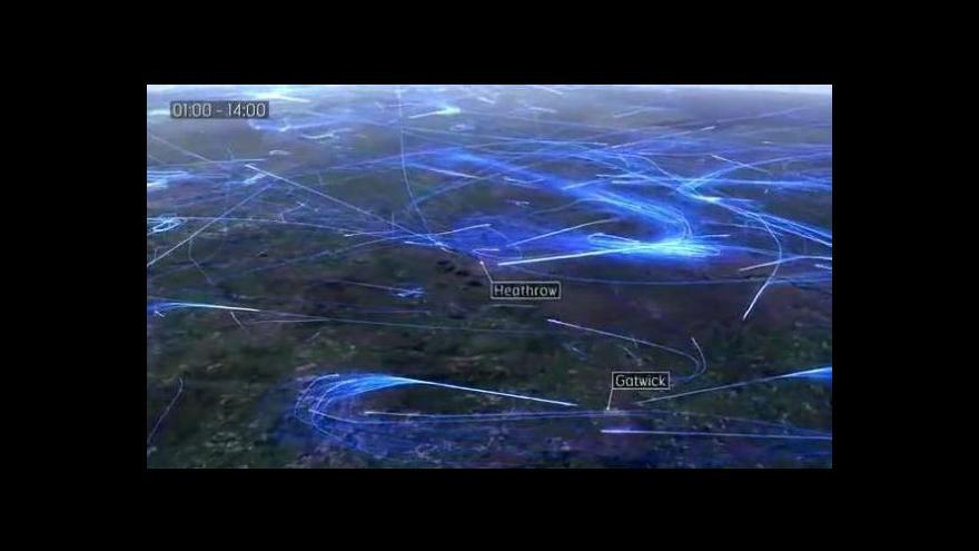 Video Unikátní časosběrné video: Letový provoz nad Zemí