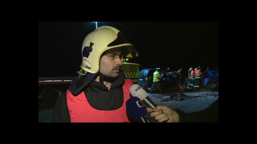 Video O nehodě hovoří mluvčí hasičů Jaroslav Mikoška