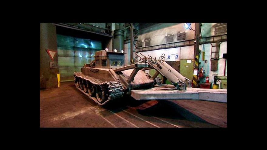 Video Konec tanků v ostravské ocelárně