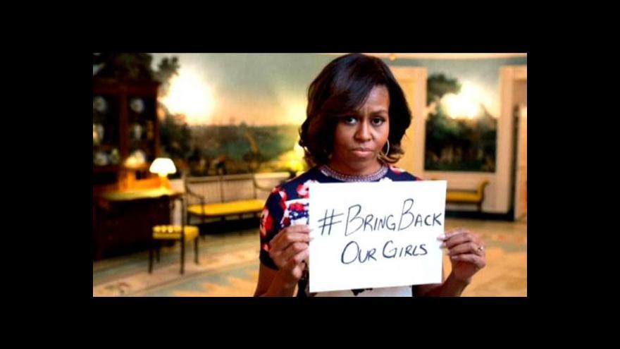 Video Michelle Obamová se zastala unesených dívek