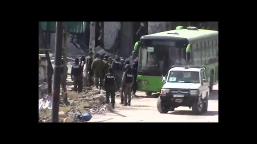 Video Syrský Homs opouštějí protivládní povstalci