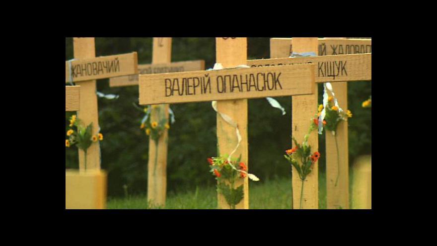 Video Kříže za ukrajinské oběti putují z Prahy do Bratislavy