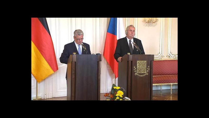 Video Prezidenti ČR a Německa si proevropsky notovali