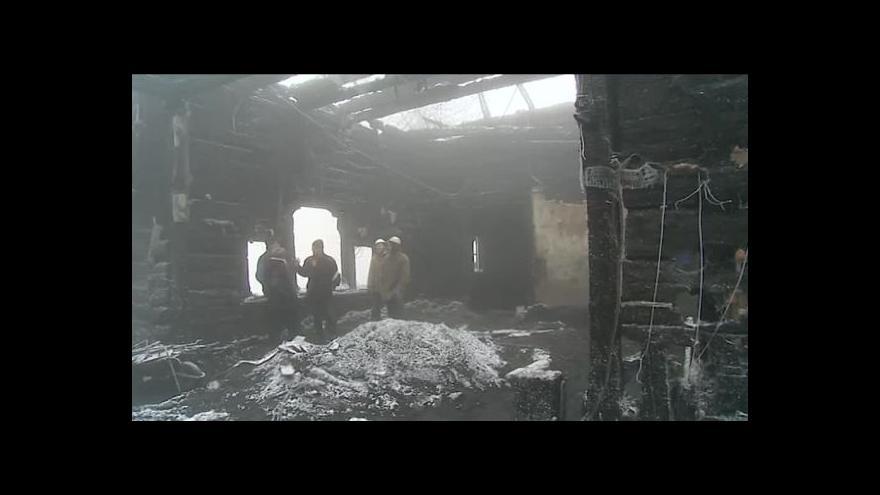 Video NO COMMENT: Interiér chaty Libušín po požáru