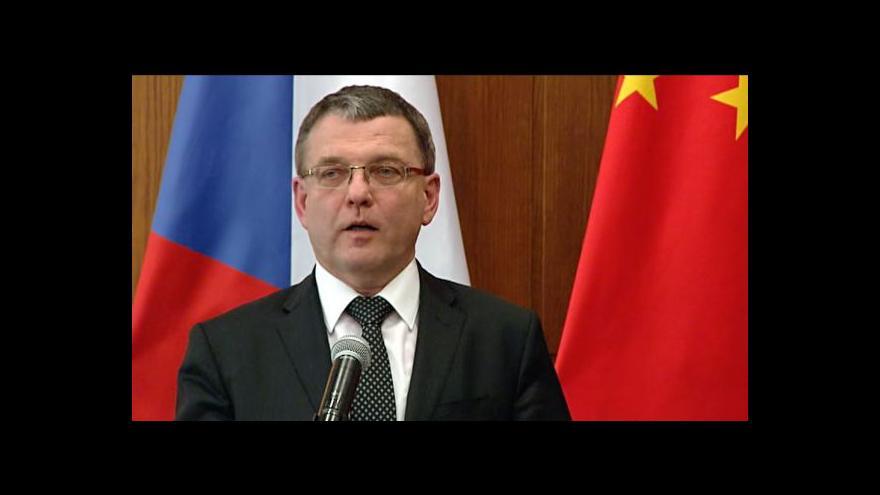 Video Zaorálek: Čína na zmínce o Tibetu trvala