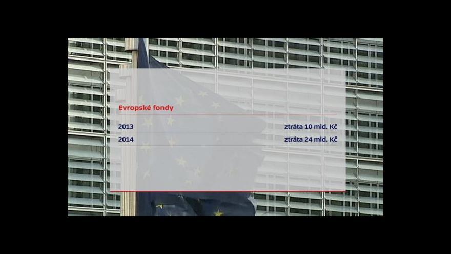 Video Události: Vláda zachraňuje miliardy z EU
