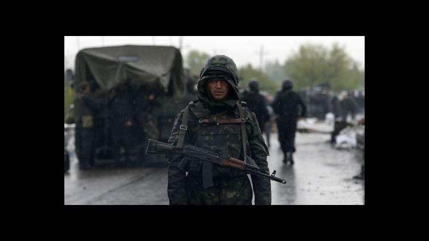Video Ukrajinská armáda zaútočila ve Slavjansku na separatisty