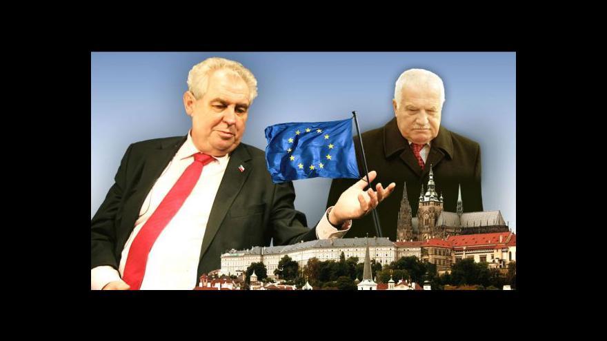 Video Prezidentský duel. Jak Klaus a Zeman hodnotí EU?