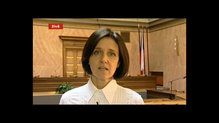 Video O nálezu hovoří soudkyně zpravodajka Kateřina Šimáčková